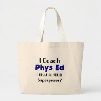 Coach phys ed large tote bag