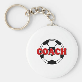 Coach (Soccer Ball) Basic Round Button Keychain