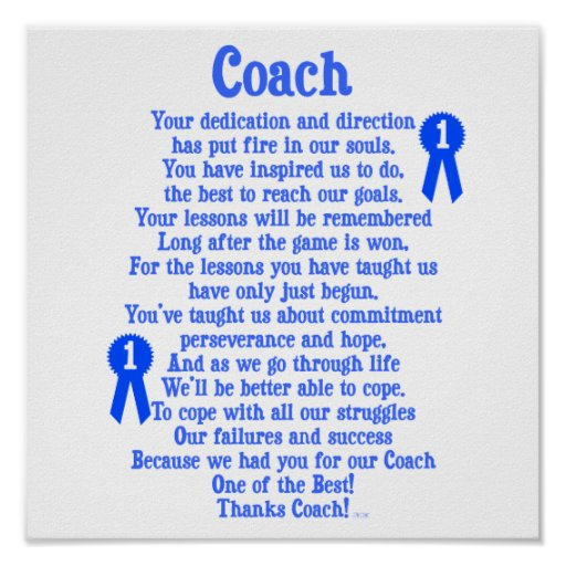 Thank You Coach Poems