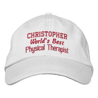 COACH World's Best PHYSICAL THERAPIST Custom Name Embroidered Hat
