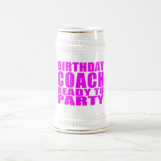 Coaches Birthday Coach Ready to Party Mugs