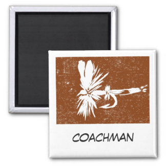 """Coachman"" Fly Fishing Art Magnet"