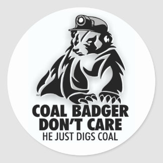 COAL BADGER CLASSIC ROUND STICKER