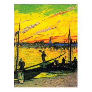 Coal Barges (F437) Van Gogh Fine Art Postcard