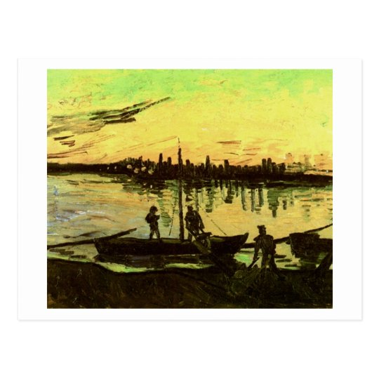 Coal Barges, Vincent Van Gogh Postcard