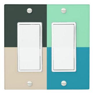 Coal Black Beige White Teal Green Aqua Blue Modern Light Switch Cover