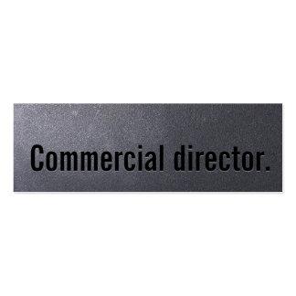Coal Black Commercial Director Mini Business Card