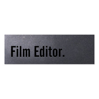 Coal Black Film Editor Mini Business Card