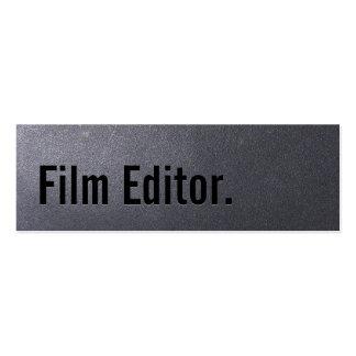 Coal Black Film Editor Mini Business Card