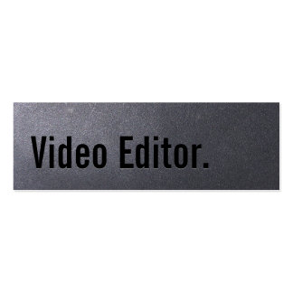 Coal Black Video Editor Mini Business Card