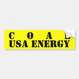 COAL BUMPER STICKER