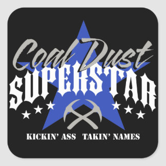 COAL DUST SUPERSTAR SQUARE STICKER