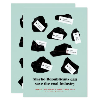 Coal for Republicans Card