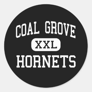 Coal Grove - Hornets - High - Coal Grove Ohio Round Sticker