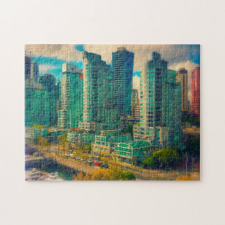 Coal Harbor Vancouver. Jigsaw Puzzle