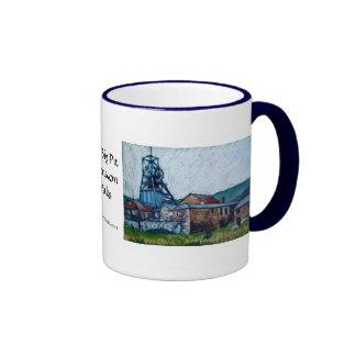 Coal Mine 'Big Pit, Blaenavon' Wales Ringer Coffee Mug