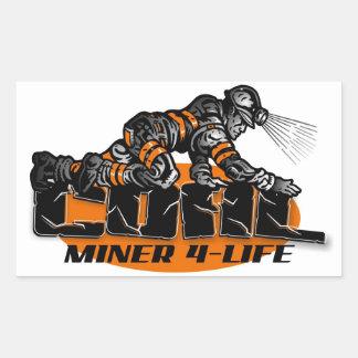 COAL MINER 4-LIFE STICKER