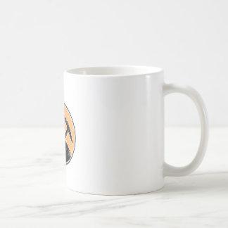 Coal Miner Carry Pick Axe Woodcut Classic White Coffee Mug