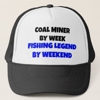 Coal Miner Fishing Legend Trucker Hat