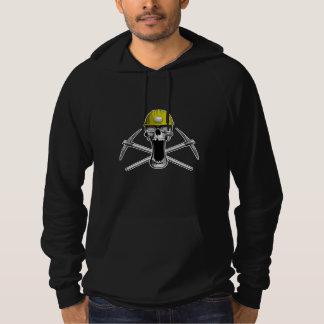 Coal Miner Skull Hoodie