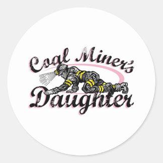 coal miner's daughter round sticker