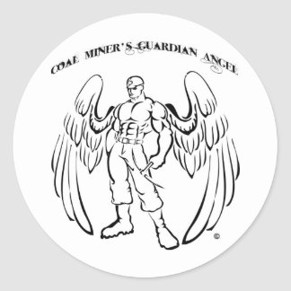 Coal Miner's Guardian Angel Classic Round Sticker