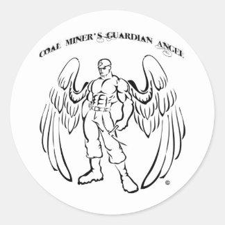 Coal Miner's Guardian Angel Round Sticker