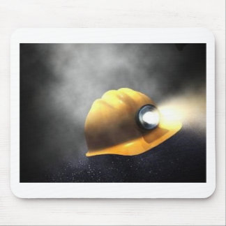 coal miners hat mouse pad