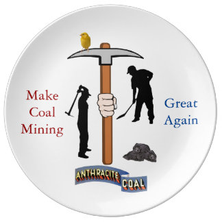Coal Mining Porcelain Plates