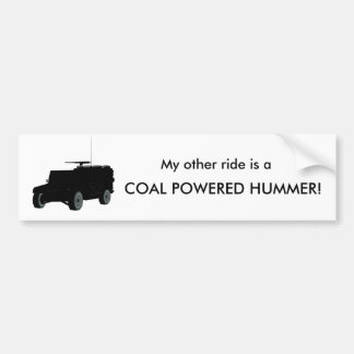 Coal Powerd Hummer Bumper Sticker