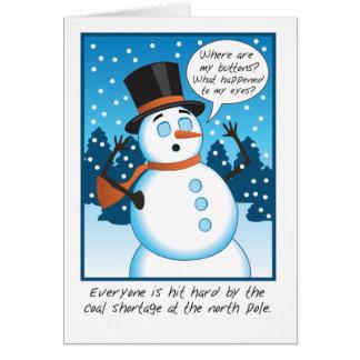 Coal Shortage Greeting Card