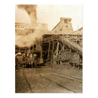 Coal tipple at Gaston mine Postcard