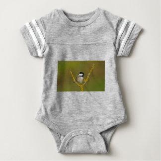 Coal Tit Bird Resting Baby Bodysuit