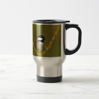 Coal Tit Bird Resting Travel Mug