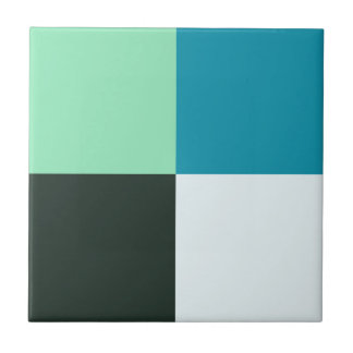 Coal White Teal Green Blue Aqua Turquoise Tile