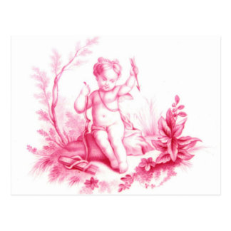 Coalbrookdale porcelain Cupid, painted 1865 Postcard