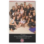 Coalition d'image de yoga et de corps calendrier