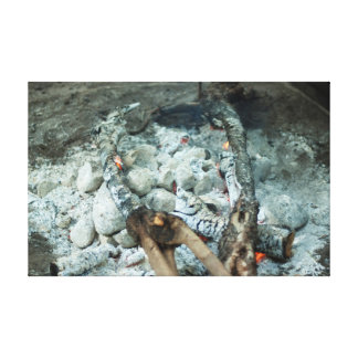 Coals of a lovo fire gallery wrapped canvas