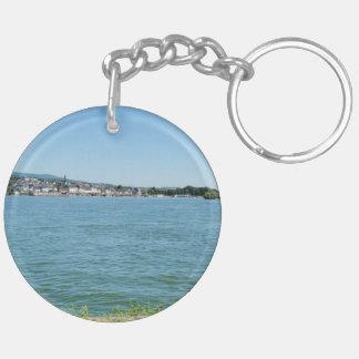 Coarse home on the Rhine Keychain
