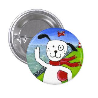 Coast Dog 1 Inch Round Button