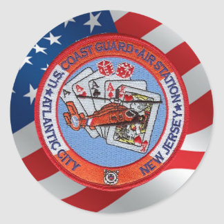 Coast Guard Air Station Atlantic City Classic Round Sticker