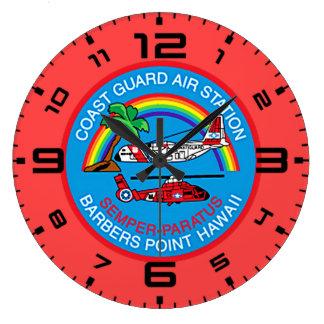 Coast Guard Air Station Barbers Point Hawaii Large Clock
