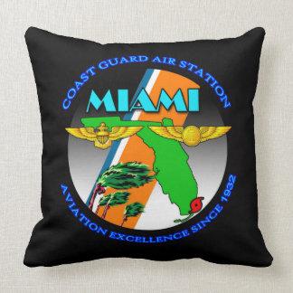 Coast Guard Air Station Miami Throw Pillow