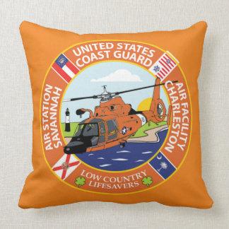 Coast Guard Air Station Savannah Throw Pillow