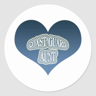 Coast Guard Aunt Classic Round Sticker