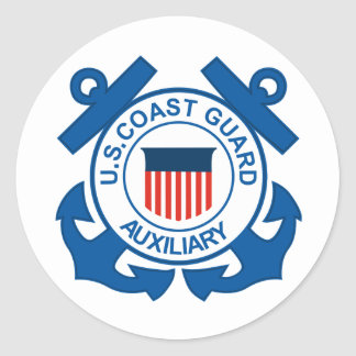 Coast Guard Auxiliary Seal Round Sticker