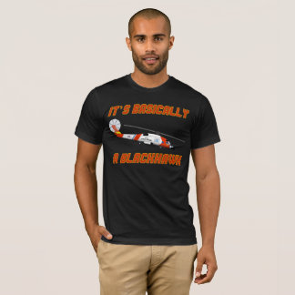 "Coast Guard ""Basically a Blackhawk"" Jayhawk T-Shir T-Shirt"
