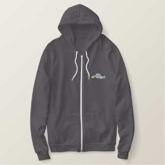 Coast Guard Boat Embroidered Hoodie
