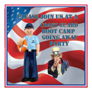 Coast Guard Boot Camp Going Away Party Invitation