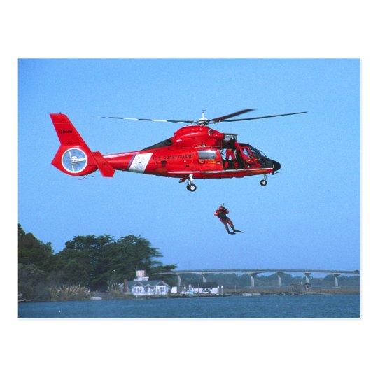 Coast Guard Chopper Postcard